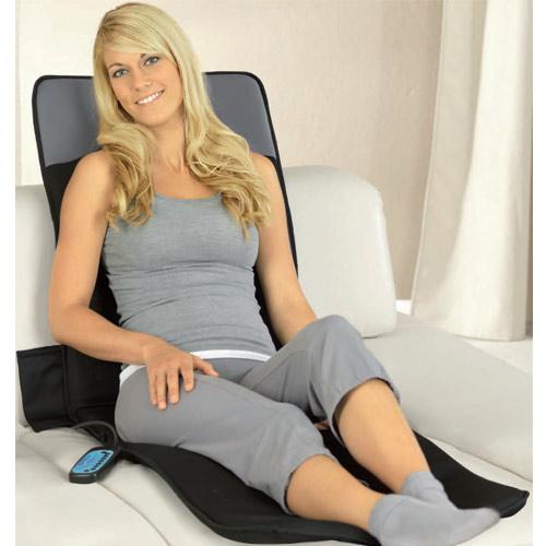Matelas de massage avec 8 moteurs chauffage et mp3 wellisima - Matelas massant chauffant ...