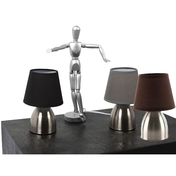 lampe de chevet touch en m tal. Black Bedroom Furniture Sets. Home Design Ideas