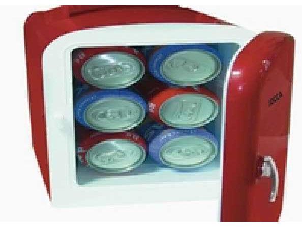 mini frigo portable 4 l 6 canettes pour voiture ou maison. Black Bedroom Furniture Sets. Home Design Ideas